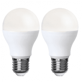 Normal LED-lampa 9W E27 2-Pack Vit