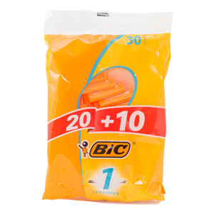 Engångsrakhyvel Bic 1 Sensitive 30-pack